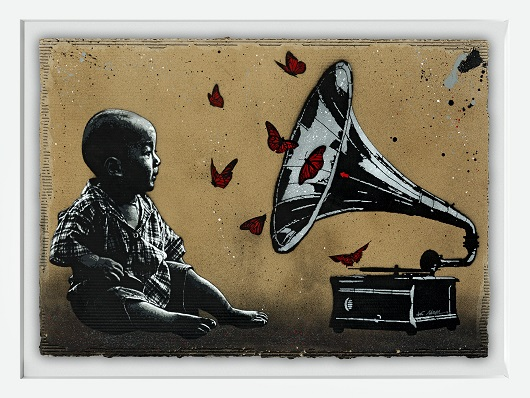 JEF AEROSOL gramophone carton 80x112cm 530px