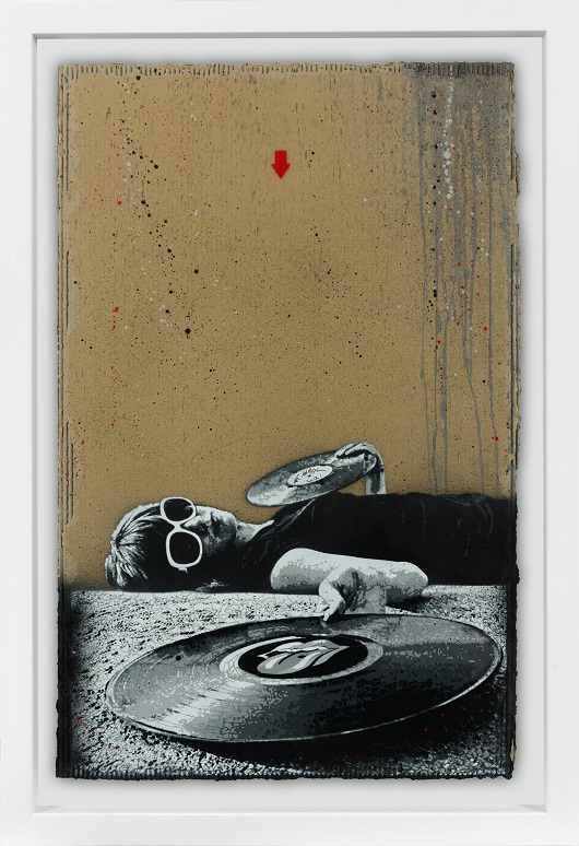 JEF AEROSOL sticky fingers carton 112x71cm 530px