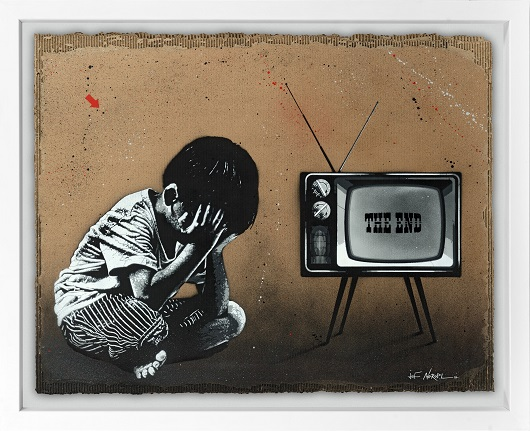 JEF AEROSOL the end carton 92x117cm 530px