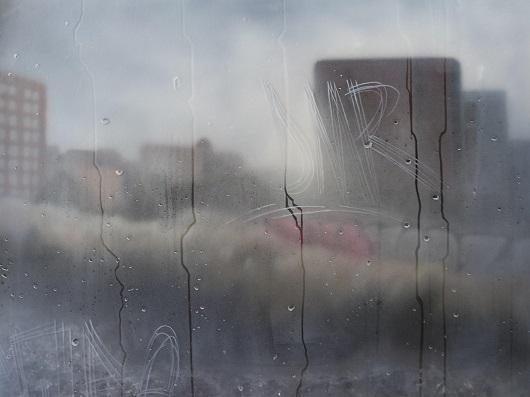 15h02, Barcelone, 73x100cm, Acrylique sur toile et plexiglas, 2017 530