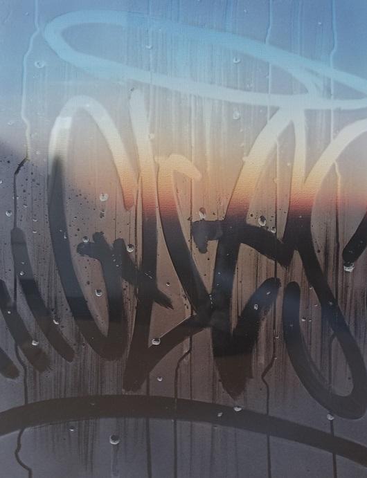 20h46, Au cr+®puscule, 65x50cm, Acrylique sur toile et plexiglas, 2017 530