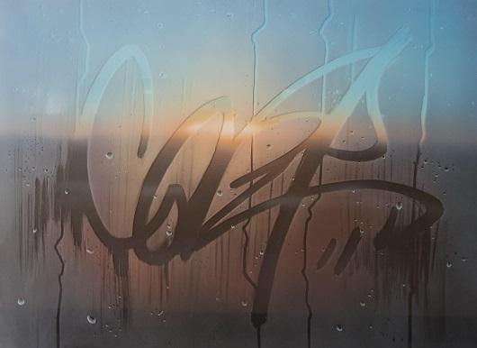 7h10, Provence, 73x100cm, Acrylique sur toile et plexiglas, 2017 530