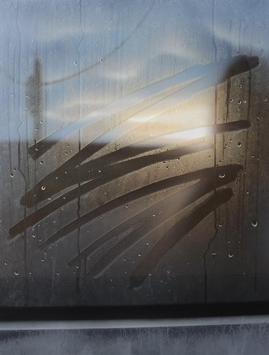 8h18, En campagne, 65x50, Acryilique sur toile et pexiglas, 2017 1350Ôé¼ 530