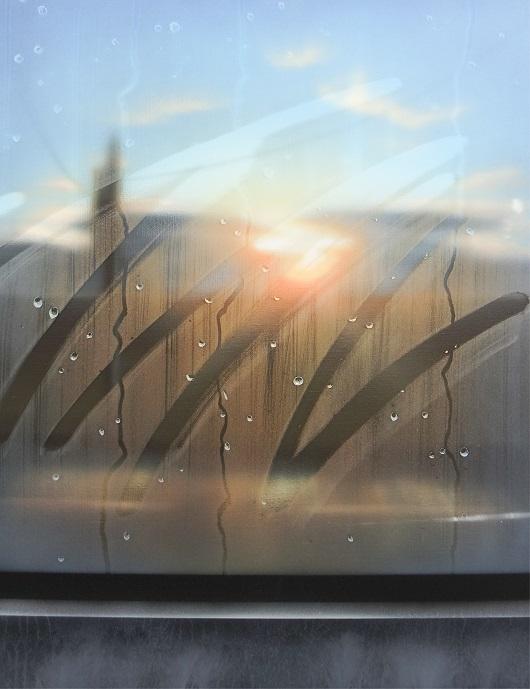 8h23min25sec, Provence, 65x50cm, Acrylique sur toile et plexiglas, 2017 530