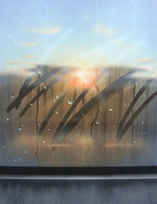 8h23min30sec, En campagne, 65x50cm, Acrylique sur toile et plexiglas, 2017-530