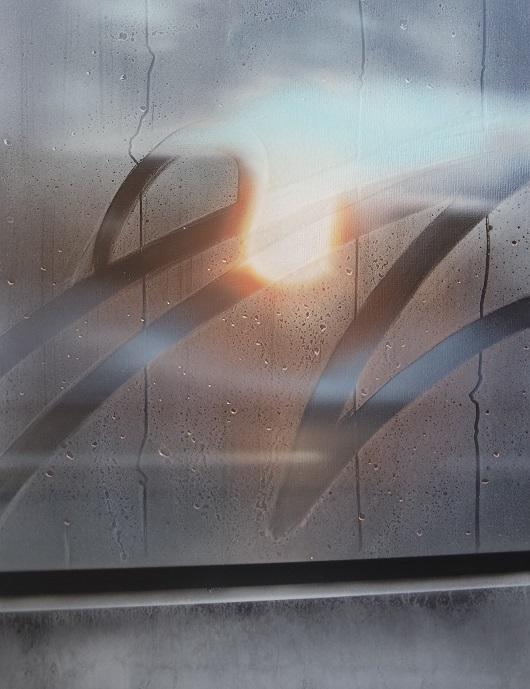8h44, Belfort, 65x50cm, Acrylique sur toile et plexiglas, 2017 1350Ôé¼ 530