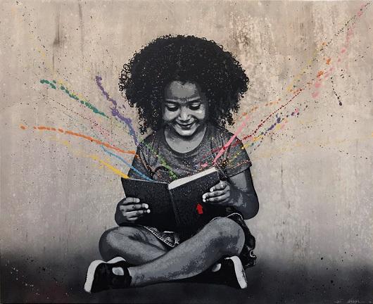 JEF AEROSOL 2017 Colorful stories toile 120x150x4,5 cm 530
