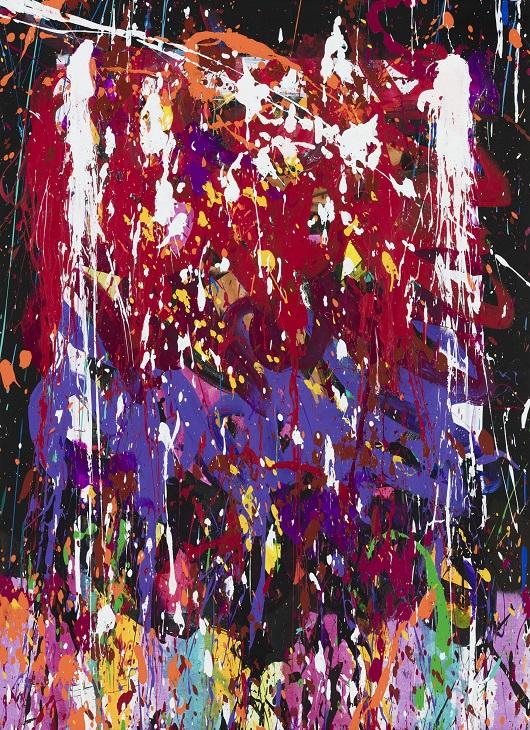 JONONE Purposes, acrylique et encre sur toile, 90 x 65 cm 530