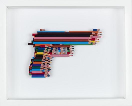 L NEWTON Beretta crayons not carnage 31x38,5x6cm 530
