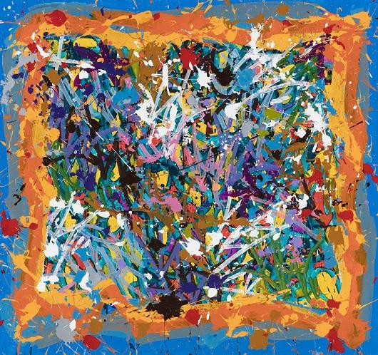 JonOne 2017-Treasure Hunts, acrylique et encre sur toile, 145 x 155 cm 530