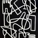 005 ERRANCE II , acrylique sur toile 146x114cm prix 5200€
