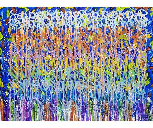 JonOne, Suede, acrylique et encre sur toile, 145 x 196cm 530