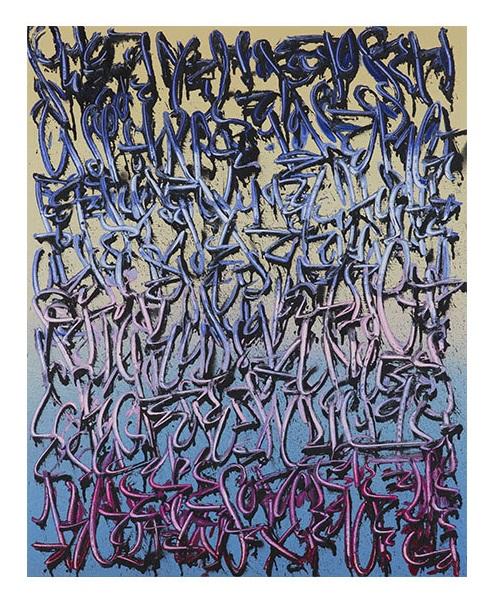 Tanc, sans titre, spray et acrylique sur toile, 100x80cm 530