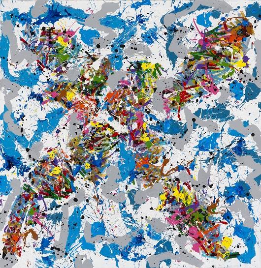 2015-Elequent, acrylique sur toile, 200 x 197 cm