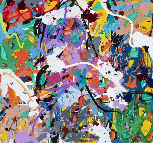 2019-Higher Reaches, acrylique sur toile, 95 x 100 cm 11800Ôé¼
