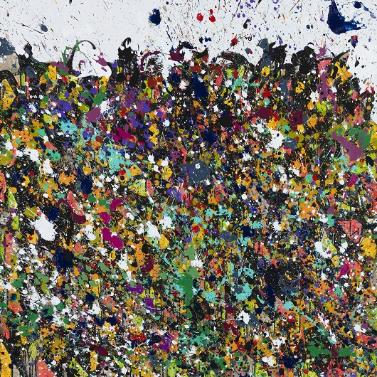 32510 - 2019-Accept, acrylique et encre sur toile, 120 x 120 cm 16800Ôé¼