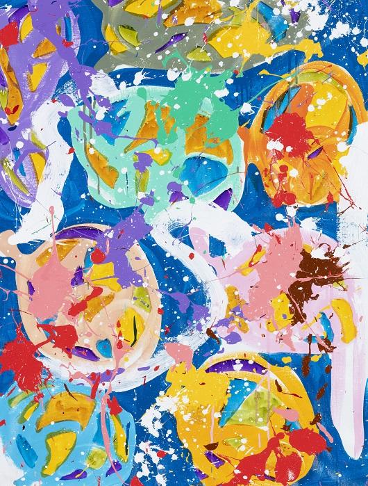 32518 - 2019-Ego, acrylique et encre sur toile, 90 x 67 cm 8800Ôé¼