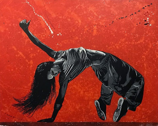 Dancer... 130x162cm spray et acrylique sur toile 13000Ôé¼