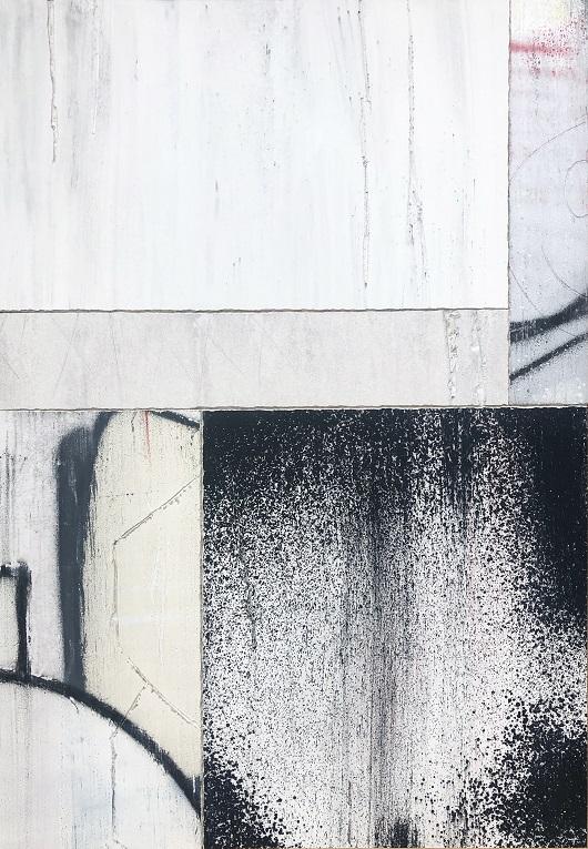 SansTitre97_2019_130x90cm_Techniques mixtes sur plaque de platre 9500Ôé¼