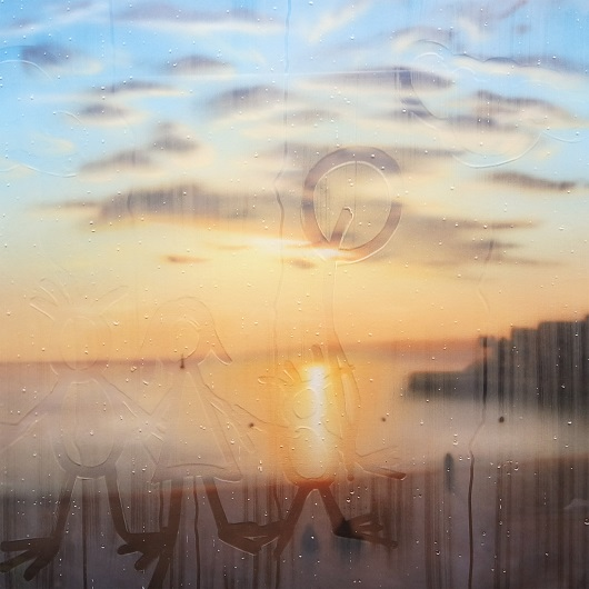 20190825-19h28, Marseille, 100X100cm, Acrylique sur toile et plexiglas, 2019