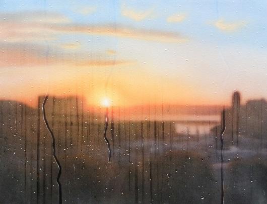 20h18, Marseille, 60x81cm, Acrylique sur toile et plexiglas, 2019