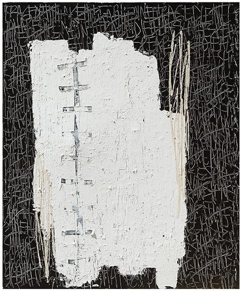 Rose Madone Tragedie Shakespearienne techniques mixtes sur toile 162 x 130 cm