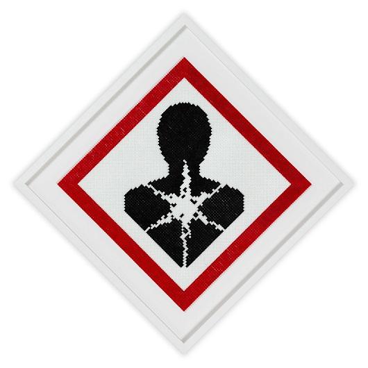 Plastic Warning sign 4 1_1 2020, 60x60cm Perles plastic 2400 1500