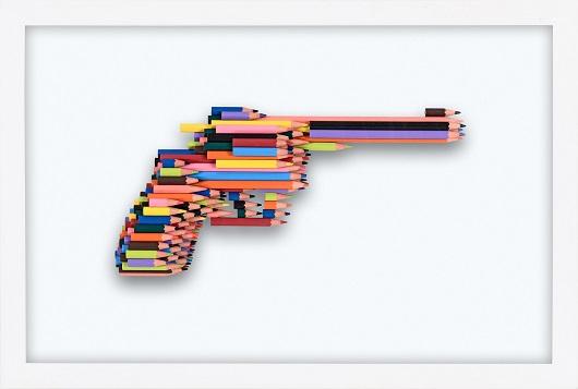 _Série crayons not carnage , RUGER GP100 (1_10) 2020, Série crayon's not Carnage 42x28x4.5cm Prix 3400 1500