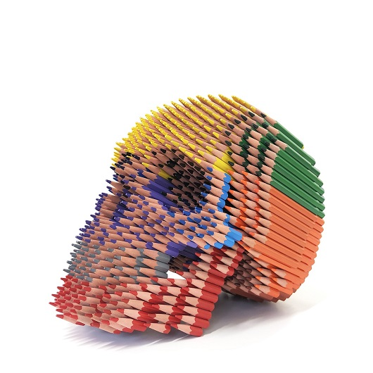 Skull 30X30X27cm Crayons + Bones H50xL60xP60cm 11000 1500p
