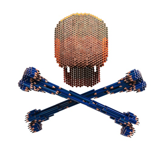 Skull & Bones assemblages crayons H50xL60xP60cm 11000 1500