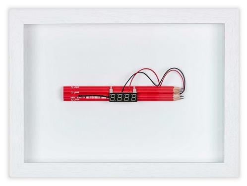 Small Dynamite 1_9 techniques mixtes et crayons 21x28x4cm 1300€