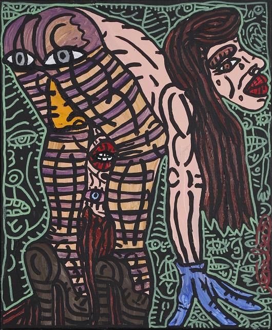 002 COMBAS Femme pench+®e , vers 1995 46x38cm 39000Ôé¼