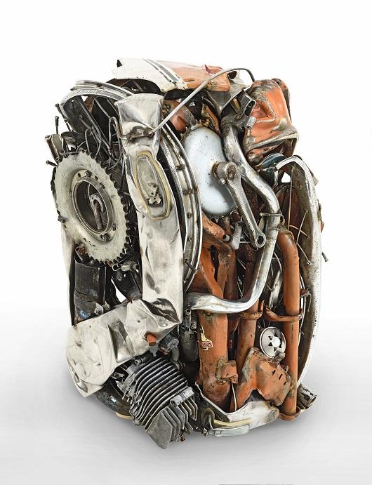 004 CESAR compression de mobylette de 1978 archive durand ruel n-¦7905 60x36x31cm Prix 88000Ôé¼.