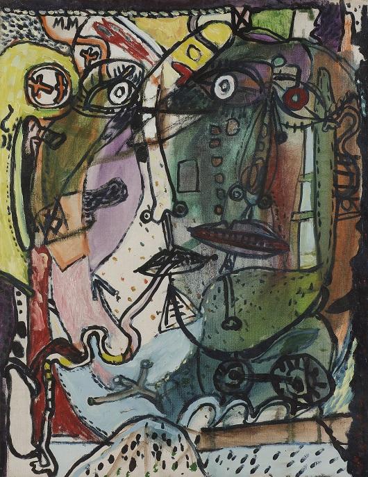 007 M.Macréau , Portraits Circa 1964-1965 Huile sur toile 65x50cm 27000€ copie