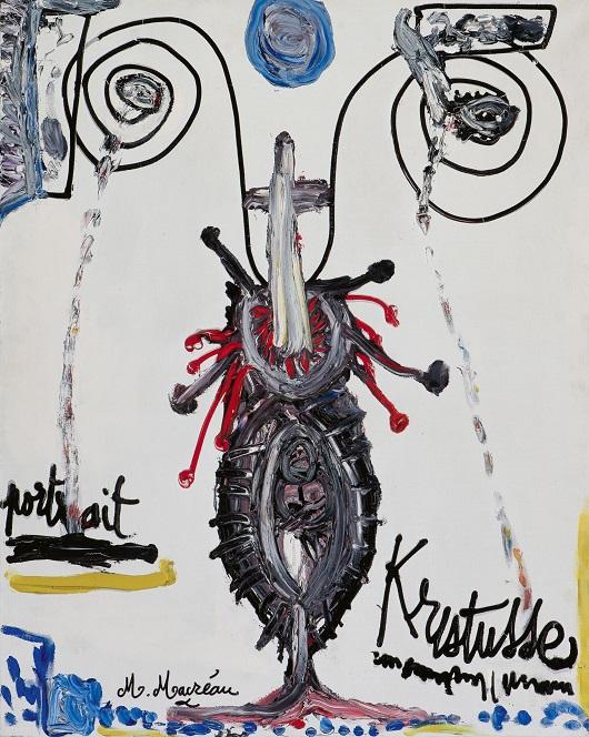 008 Portrait Kristusse , vers 1980 Huile sur toile 91,6x72,6cm ProvenanceKunsthandel Guus Maris, Nieuw-Vennep Prix 14000€