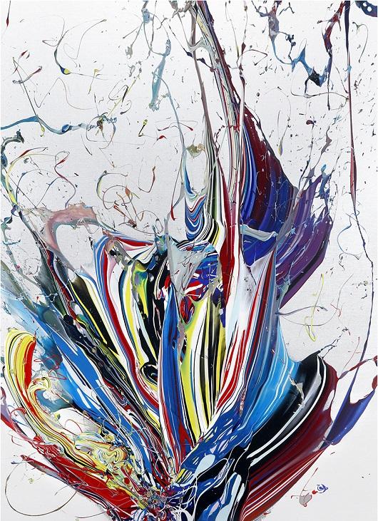012 KATRIN FRIDRIKS Waving beauty of nature Acrylique sur toile ,180x130+10cm 36000Ôé¼