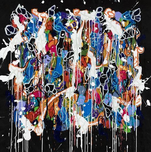 017 JONONE 2020-Energy 101, acrylique et encre sur toile, 123 x 120 cm 16200Ôé¼
