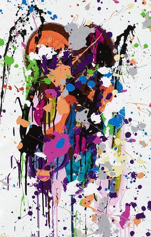 019 JONONE2020-Splashes, acrylique et encre sur toile, 46x75 cm 6700Ôé¼