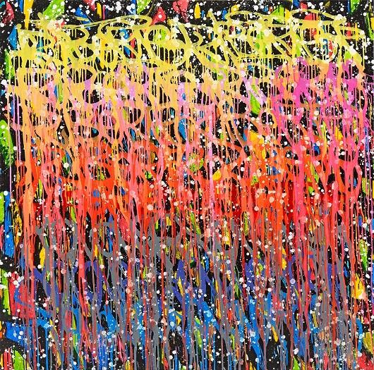 2021-Libert+®, acrylique et encre sur toile, 150x150cm 24500Ôé¼