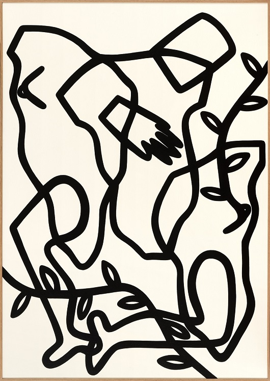 LE BAL DES MUSES – 2021 Acrylique sur toile _ 162 x 114 cm 6800€
