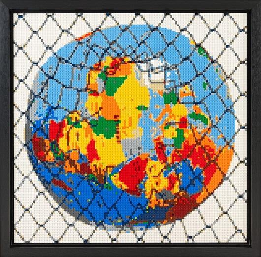 Lenz, Freedom Matters 2021 Assemblage Lego 115x115cm 4400Ôé¼