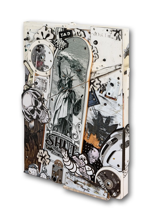 _Petite sc+¿ne de Libert+® conditionnelle -+ 2021 techniques mixtes sur bois 70x50cm 4400Ôé¼ C