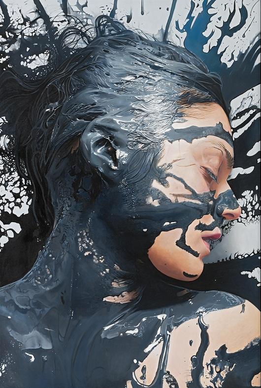 LOVE 195x130cm acrylique sur toile 7400€ 530