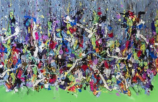 POUR LA COM The Time Keeper, 2021 Acrylique sur toile 185x280cm 49000 530px
