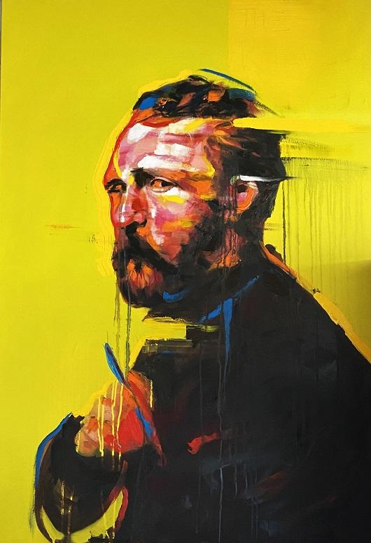 (artiste invité Hugpat)My Vincent 116x81 huile-acrylique 3500 530